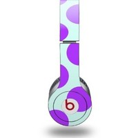 Kearas Polka Dots Purple And Blue Decal Style Skin fits Beats Solo HD Headphones - (HEADPHONES NOT INCLUDED)