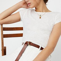 Skinny Mini Leather Wrap Belt