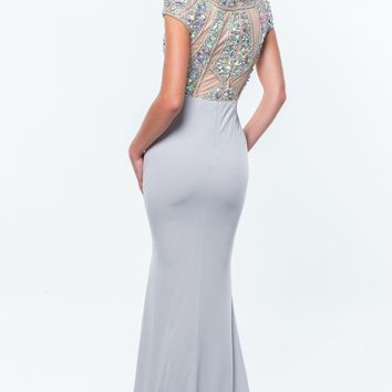 Beaded High Neck Gown by Terani Couture Evening