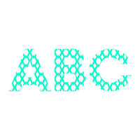 Lisa Argyropoulos Daffy Lattice Aqua Decorative Letters