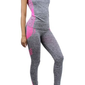 Workout Sleeveless Tank Top and High Rise Pullover Leggings Set