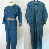 Denim Pants Jumpsuit Romper 1980s Lizwear