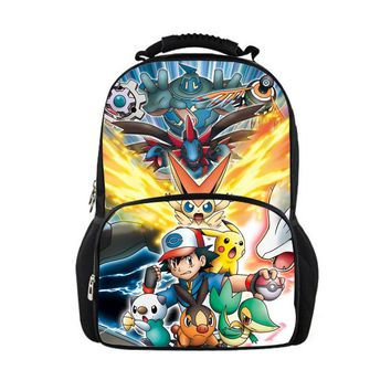 FORUDESIGNS children backpack back to school daypack dragon Large student schoolbags women backpack pokemon mochila Cute bagpack