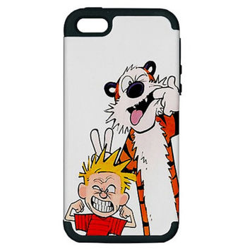 Calvin and Hobbes Comic Strip iPhone 5 Hardshell Case PC+Silicone