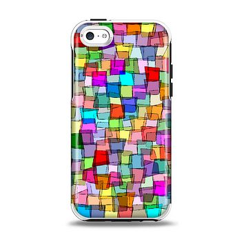 The Vibrant Colored Abstract Cubes Apple iPhone 5c Otterbox Symmetry Case Skin Set
