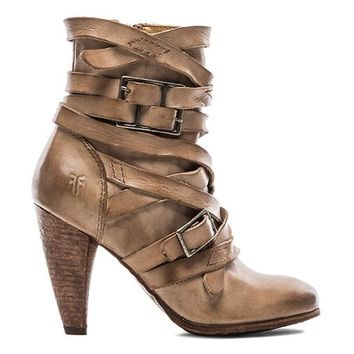 Frye Mikaela Strappy Boot in Taupe