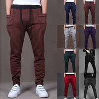 Men Casual Harem Baggy Hip Hop Dance Sport Sweat Pants Trousers Slacks [9305654919]