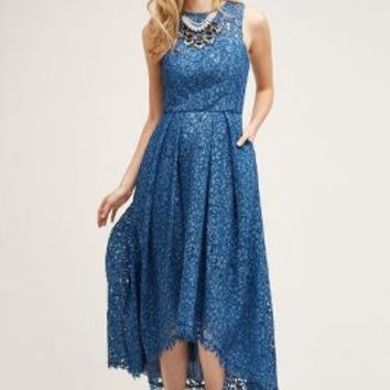 Shoshanna Jules Lace Dress in Blue Size: