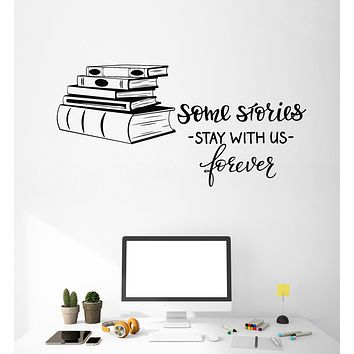 Vinyl Wall Decal Books Shop Quote Library Reading Room Decor Art Stickers Mural Unique Gift (ig5091)
