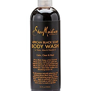 Shea Moisture African Black Soap Body Wash-13 oz