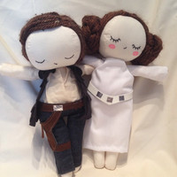 "Princess Leia and Han Solo 18"" dolls"