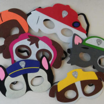 Paw Patrol Mask Party Favors Costume