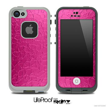 Neon Pink Cracked Skin for the iPhone 5 or 4/4s LifeProof Case