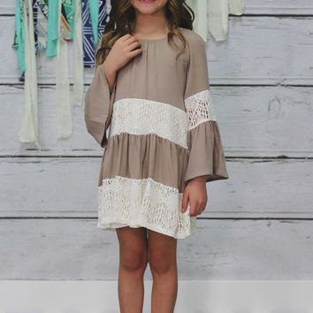 Spoonful of Sugar Dress - Taupe