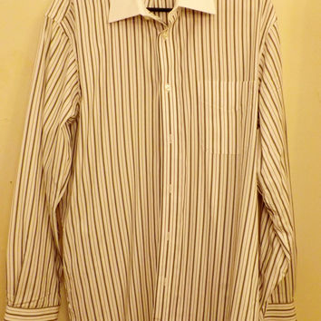 Kenneth Roberts Mens Oxford Blue Pin Stripe Shirt Size 16 34 /35