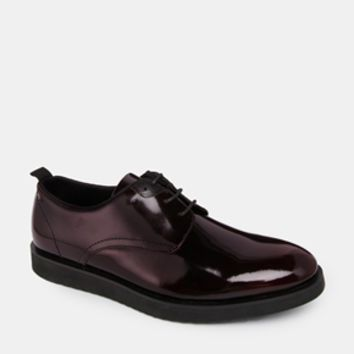 ASOS Derby Shoes in Leather - Burgundy