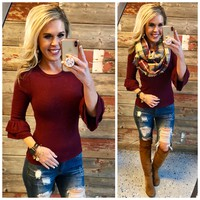 Favorite Time Burgundy Sweater