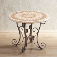 "Paloma Natural Stone 32"" Round Chat Table"