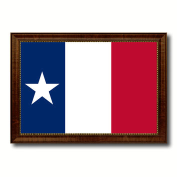 Texas Dodsons Historical Military Flag Canvas Print with Brown Picture Frame Home Decor Wall Art Gift Ideas