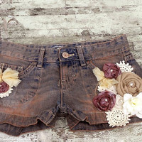Cowgirl Country Chic Jean Shorts Womens by TrueRebelClothing