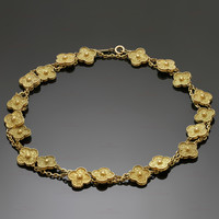 VAN CLEEF & ARPELS Vintage Alhambra Long 20 Motifs Yellow Gold Necklace