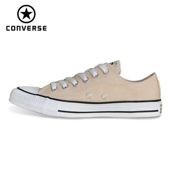 NEW CONVERSE Chuck Taylor All Star shoes beige color Original men's and women's low sneakers Skateboarding Shoes 160459C