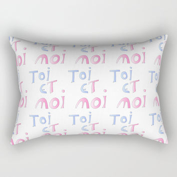 Toi et moi – Marriage, love, romantism,romantic,cute,beauty, tender, tenderness Rectangular Pillow by oldking
