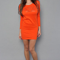 The Geo Dress in Spicy Orange by Obey