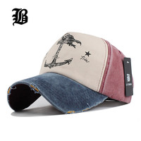 panel hip hop snapback hats couples hat Man Woman pure cotton baseball caps do old pirate ship anchor gorras wash cap