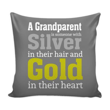 """""""Silver and Gold"""" Accent Pillow with Insert"""