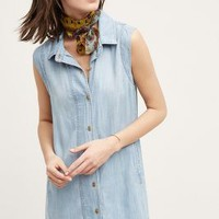 Cloth & Stone Parkside Shirtdress in Dark Denim Size: