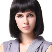 Brownish Black Straight Kanekalon Medium Wig