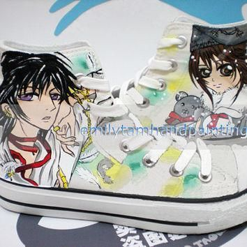 anime theme hand painted converse code geass and vampire knight custom converse sneake