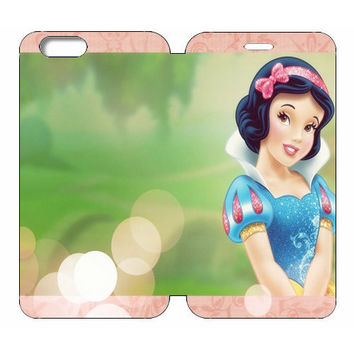 "Disney Princesses (Snow White) Wallet Case w/ Stand Flip Cover for iPhone 6/6s PLUS (5.5"")"