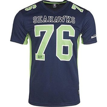 Majestic Nfl Mesh Polyester Jersey Shirt Seattle Seahawks