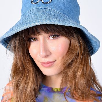 ECH Vintage Denim Butterfly Bucket Hat