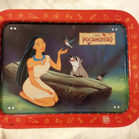 Walt Disney Pocahontas Retro tin Tv Tray