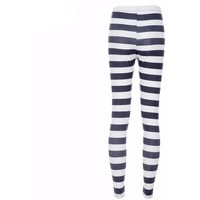 Zebra Stripes Digital Print Casual Leggings