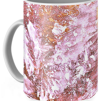 Autumn Abstract In Golden Pink Coffee Mug