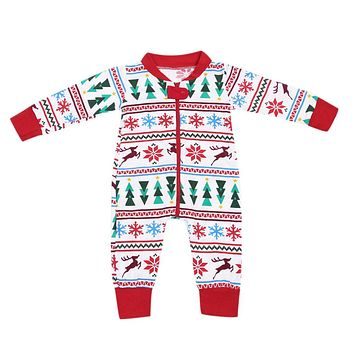 2018 New Year's Costume for Boy Baby Snowflake Romper Snow Overalls Red Jumpsuit Toddler Holiday Costume