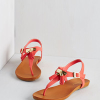 ModCloth I've Dune it All Sandal in Coral