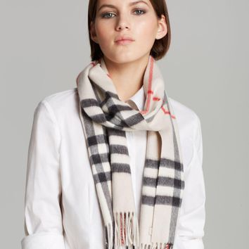 B-106 -Women's Burberry Giant-Check Cashmere Scarf $435.00