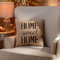 Home Sweet Home Burlap Pillow | Kirklands