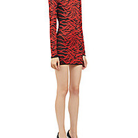 Balmain - Knit Tiger-Print Dress - Saks Fifth Avenue Mobile