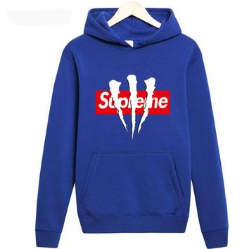 DCCKUN3 supreme A long sleeved couples dress Hoodie