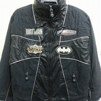 Sale Vintage 1990s Batman The Dark Knight Fablice Thinsulate Bomber Pull Over Jacket