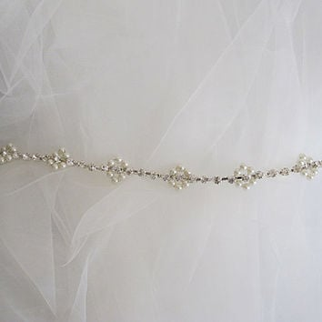 Wedding Belt, Bridal Belt, Crystal Rhinestone and ivory Pearls, bride belt, ivory pearl belt, Bridesmaid Gifts, gift ideas, wedding ideas