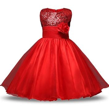 Summer Kids Dresses For Girls Princess Wedding Party Dress Girl Clothes 1 To 12 Years Teenage Girl Frock Dress Children Clothing