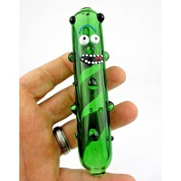 """Pickle Rick"" Smoking Pipe Bowl w/ Diversion Case- ""Rick and Morty"""