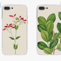 New Fashion plant Plastic Case Cover for Apple iPhone7 7plus 6 Plus 6-05005